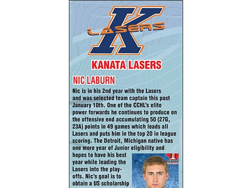 CCHL Team Profile of the Week: Kanata Lasers